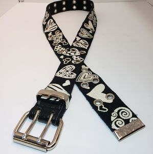 Accessories - Black And White Hearts Women's Belt One Size